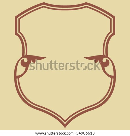 decorative shield, vector design element - stock vector