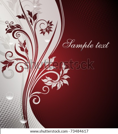 Decorative silver background