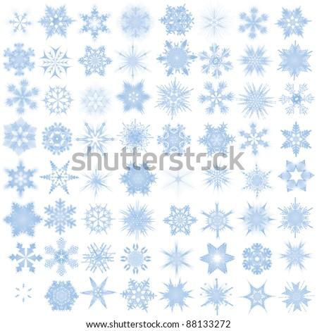 Decorative snowflakes. Vector illustration - stock vector