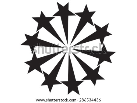Decorative star circle for background - stock vector