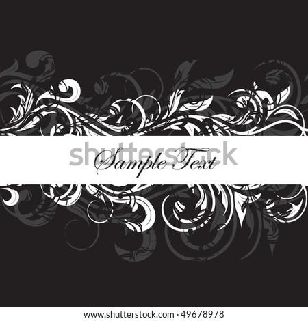 Decorative template grunge background, illustration - stock vector