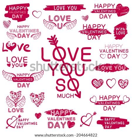 decorative texts for love confession suitable for wedding valentines day and same design - Valentines Day Texts