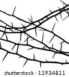 decorative thorns - stock vector