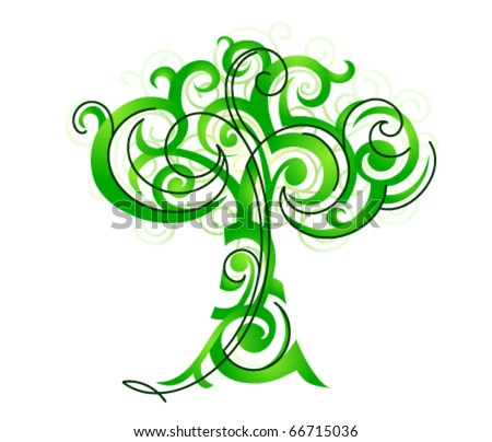 Decorative tree illustration