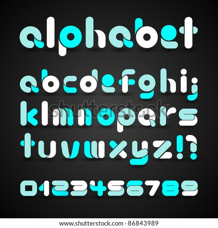 Decorative Vector Alphabet - stock vector