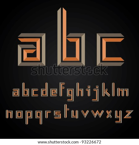 Decorative Vector Alphabet Design - stock vector