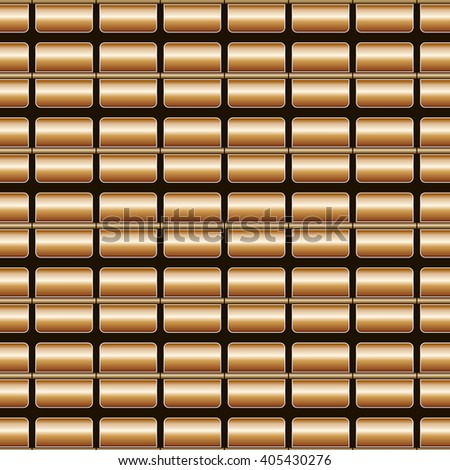 Decorative vector brown background - square pattern