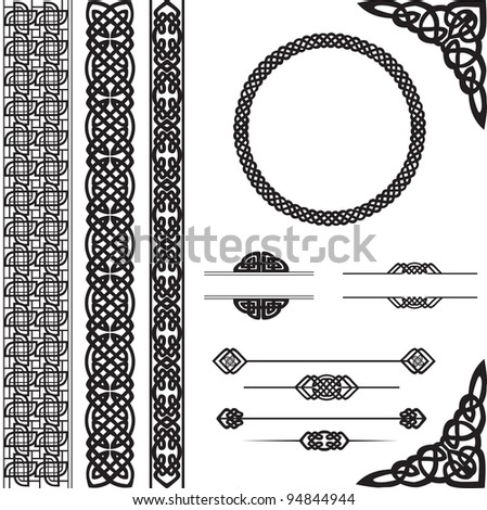 decorative vector elements for design - stock vector