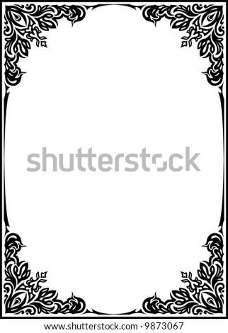 Decorative vector frame - stock vector
