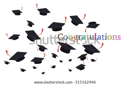 decorative vector graduation cap background