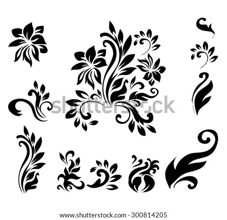 Victorian Design Elements decorative victorian style calligraphic vector design stock vector