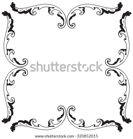 Decorative Vintage Borders Frames Page Decoration Stock Vector HD ...