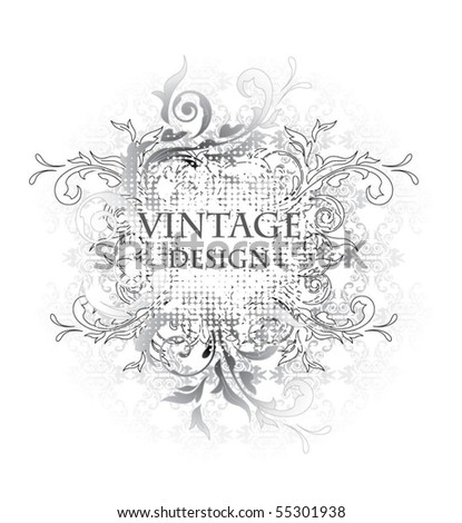 Decorative Vintage Frame - stock vector