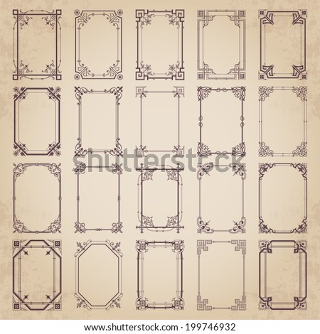 Decorative vintage frames - stock vector