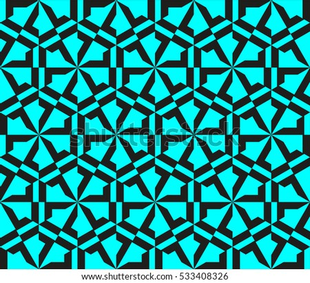 Decorative wallpaper design in shapes.
