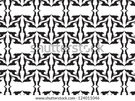 Decorative wallpaper pattern for any kind of usage - stock vector