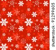Decorative winter Christmas seamless texture with different line art snowflakes - stock vector