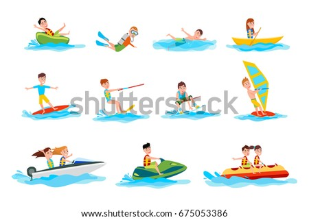 Young Swimmer Swimming Pool Funny Cartoon Stock Vector