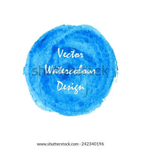 Deep ocean blue waters paint circle banner for web design. Vector. - stock vector