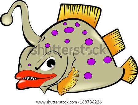 Deep sea fishing - stock vector