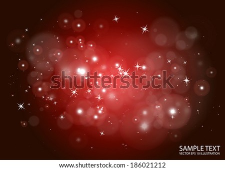 Deep space abstract  flares background design template - Vector sparkling  space  background illustration - stock vector