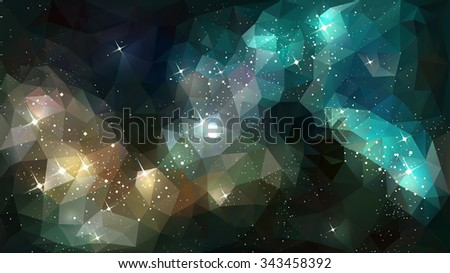 deep space nebula - stock vector