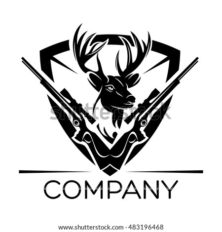 Deer Hunting Logo Stock Vector Royalty Free 483196468 Shutterstock