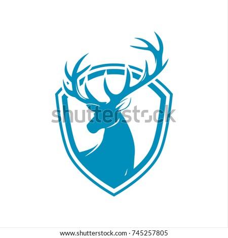 Deer Head Logo Company Stock Vector 2018 745257805 Shutterstock
