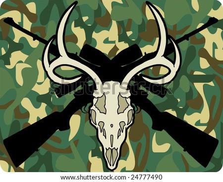 deer hunter - stock vector