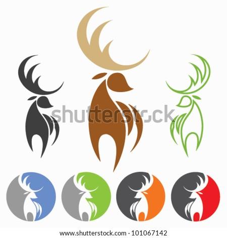 Deer - vector illustration - stock vector