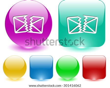 defective mail. Vector interface element. - stock vector