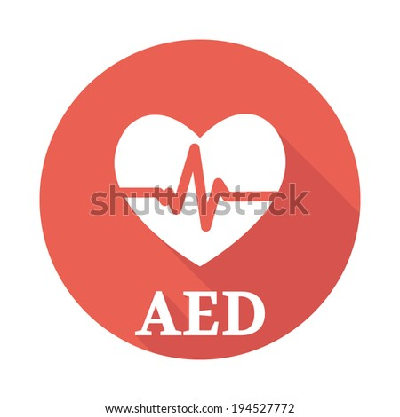 defibrillator icon - stock vector