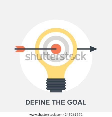 Define the Goal - stock vector