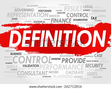 DEFINITION word cloud, business concept - stock vector