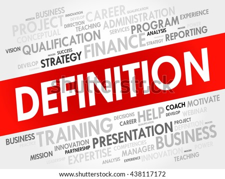 Definition Word Cloud Business Concept Stock Photo ...