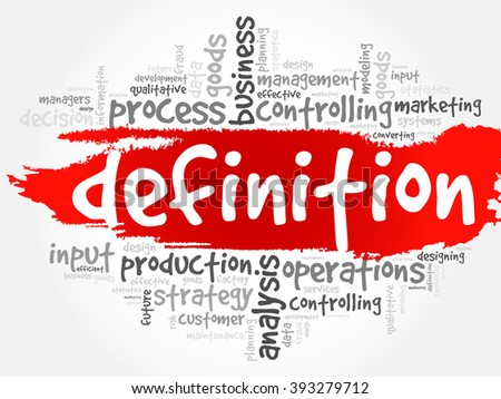DEFINITION word cloud, business concept background - stock vector