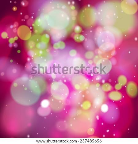 defocused christmas lights vector illustration - stock vector