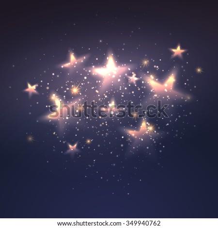 Defocused magic star background. Vector illustration EPS10 - stock vector