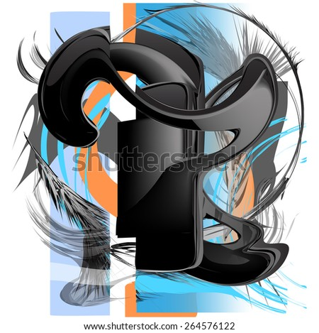 Deformation of smart-phone. Surreal image. - stock vector