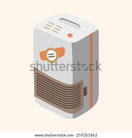 Dehumidifiers theme elements - stock vector