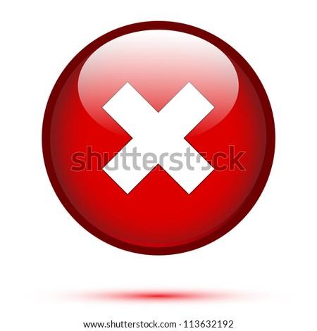 Delete icon on white background - stock vector