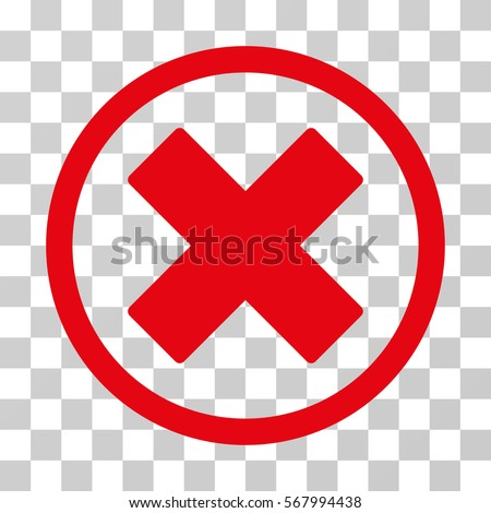 Delete X Cross Rounded Icon Vector Illustration Stockvector
