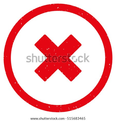 Delete Xcross Rubber Seal Stamp Watermark Stock Vector 515683465