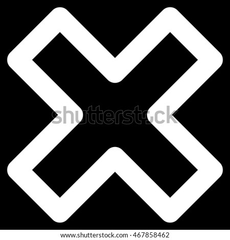 Delete X Cross Vector Icon Style Outline Stock Vector Hd Royalty