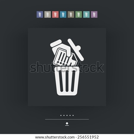 Deleting a document - stock vector
