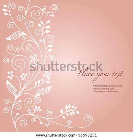 delicate floral background - stock vector