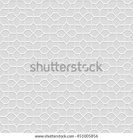 Delicate grey Seamless Flower Pattern in Oriental style. Abstract Geometric Ornament - East motif . Vector background