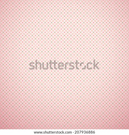 Delicate lovely vector seamless pattern (tiling). Fond pink, white and brown colors. Endless texture can be used for printing onto fabric and paper or invitation. Floral shapes.