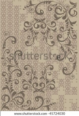 Delicate pattern - stock vector