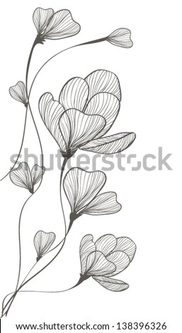 delicate tulips - stock vector